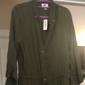 Old navy long sleeve military style dress